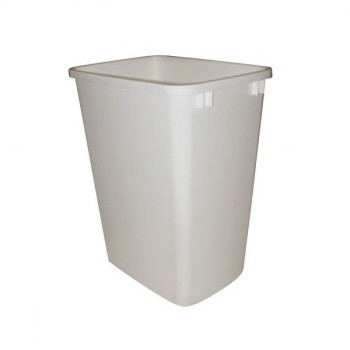 Waste Container (6700-61-B, 30qt, White, Single)