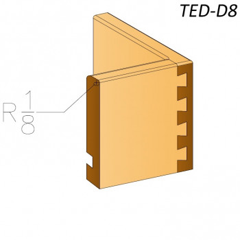"1/8"" Top Edge  TED-D8"